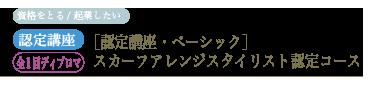 [認定講座・ベーシック] スカーフアレンジスタイリスト認定コース