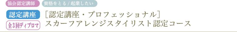 [認定講座・プロフェッショナル]スカーフアレンジスタイリスト認定コース